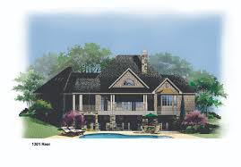 1301r house plan hillside lake amazing walkout basement plans