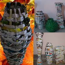 Pictures Of Vases With Flowers Flower Vase In Magazine Paper 6 Steps With Pictures