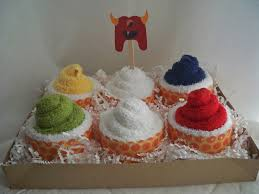 be sweetly inspired washcloth cupcakes a baby shower gift