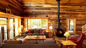 furniture magnificent log cabin interiors for living room sets
