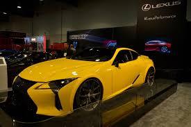 lexus yellow sports car world u0027s first custom lexus lc 500 debuts in sema alongside tuned