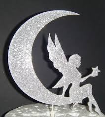moon cake topper fairy and moon cake topper