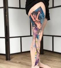 mermaid leg watercolor best design ideas