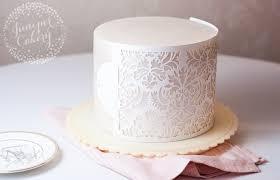 wedding cake tutorial how to use cake stencils tips tricks tutorials
