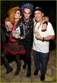 cindy crawford u0026 rande gerber have a punk rock family costume for