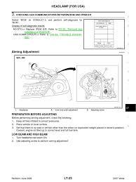 nissan versa engine oil headlamp adjustments 2007 nissan versa headlamp wheeled vehicles