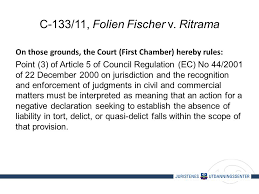 Council Regulation Ec No 44 2001 Brussels On Line Cross Border Intellectual Property Disputes
