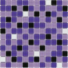 glass mosaic tile backsplash purple blend 1x1 kitchens and house