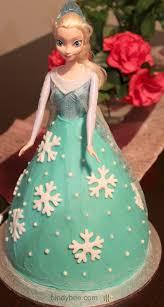 frozen elsa doll cake bindybee