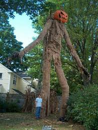 Big Scary Halloween Decorations by Giant Pumpkin Head Scarecrow Halloween Decorating Ideas