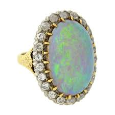 turquoise opal engagement rings exquisite victorian large opal diamond gold and sterling ring for