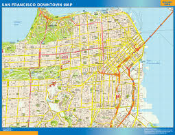 san francisco map of usa san francisco downtown map netmaps usa wall maps shop