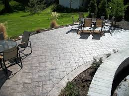 Backyard Stamped Concrete Ideas Ashler Slate Stamped Concrete Patio