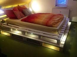 bed frame with lights bed frame pallets fascinating wood pallet bed frame with lights 91