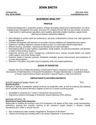 Qa Analyst Sample Resume by Sample Resume Of A Business Analyst Example 9 Ilivearticles Info