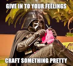 Knitting Meme - darth vader knitting cosplay meme darth vader and meme
