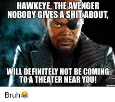 Who Gives A Shit Meme - hawkeye the avenger nobody gives a shit about will definitely not