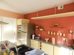 peinture orange cuisine peinture cuisine orange idées décoration intérieure