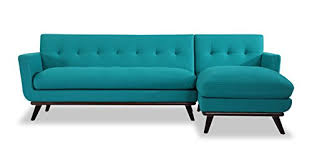 mid century modern sofa with chaise kardiel jackie mid century modern sectional sofa right turquoise