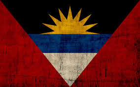 grunge flag of antigua and barbuda wallpaper free download