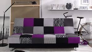 canape violet pas cher canapé 3 places en tissu convertible clic clac enduro violet 499 00