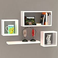 Wall Shelves Amazon by Artesia Wooden Brown Wall Shelf Rack Set Of 3 Intersecting Wall