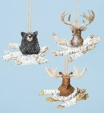 moose deer on log ornaments store