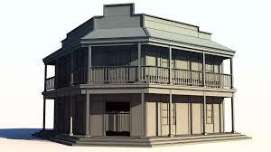 3d model wild west saloon cgtrader