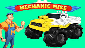 bigfoot presents meteor and the mighty monster trucks mechanic truck new monster truck vehicles big truck games for