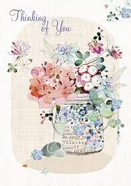 thinking of you flowers in jar glittered 1 99 a great