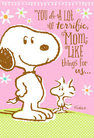Latest Mother S Day Cards Peanuts You U0027re Like A Mom To Us Mother U0027s Day Card Greeting