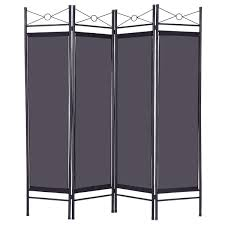 screen room divider 4 panels metal frame room private folding screen room dividers