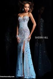 formal gown sherri hill 21029 gown with high leg slit formal dress 21029