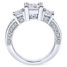 princess cut white gold engagement rings 14k white gold princess cut 3 stones engagement ring er3891w44jj
