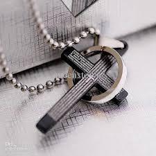 titanium cross necklace images Wholesale cross pendant necklaces titanium steel men cross jpg