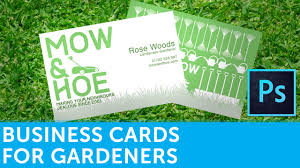 how to design a landscape gardener business card in adobe