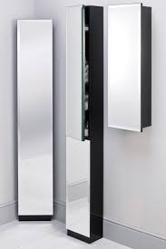 Corner Bathroom Mirror Cabinet Bathroom White Painted Low Bathroom Cabinet Mixed Blue Wall