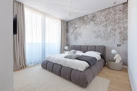 papier peint chambre à coucher papier peint imprimé et éclairage design pour une ambiance industrielle