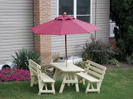 pine picnic table with benches from dutchcrafters amish furniture
