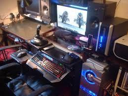 gaming workstation desk charming brown wooden also capticating gaming computer desks
