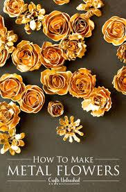metal flowers metal flower tutorial make your own diy metal flowers