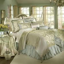 luxury white gold and blue bedding set decoracion pinterest