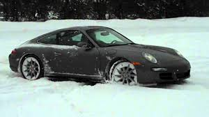 porsche carrera 2007 2007 porsche carrera 4s doughnuts in the snow youtube