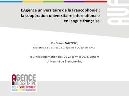 bureau de la directrice l agence universitaire de la francophonie la coopération