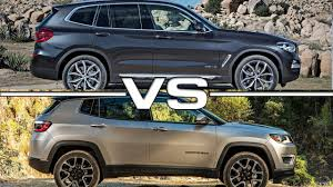 bmw jeep 2018 bmw x3 vs 2017 jeep compass youtube