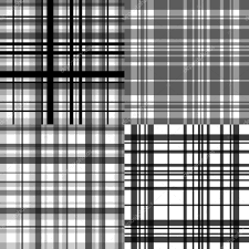 abstract checkered seamless patterns set in shades of grey vector