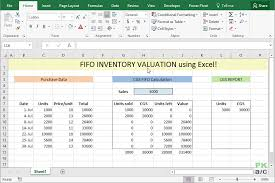 how to make a calculation table in excel fifo inventory valuation in excel using data tables pakaccountants com