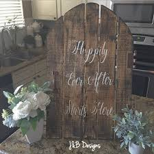 happily ever after starts here wedding signs just married