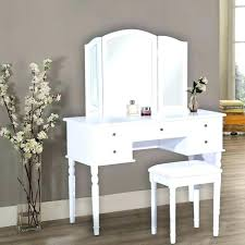 Bedroom Makeup Vanity With Lights Simple White Wooden Vanity Makeup Table With 10 Drawers Laid On