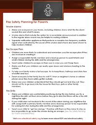 home fire safety plan esfi fire safety planning for parents